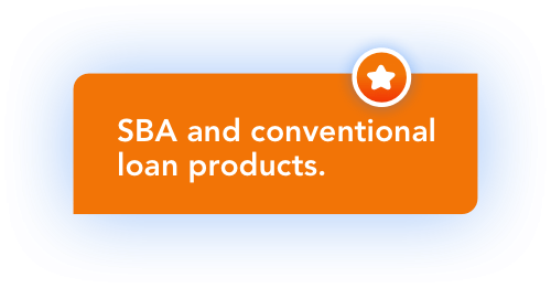 SBA and conventional loan products.